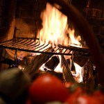 cheminee et legume flamme